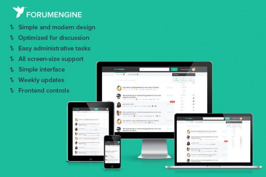Mẫu website forum
