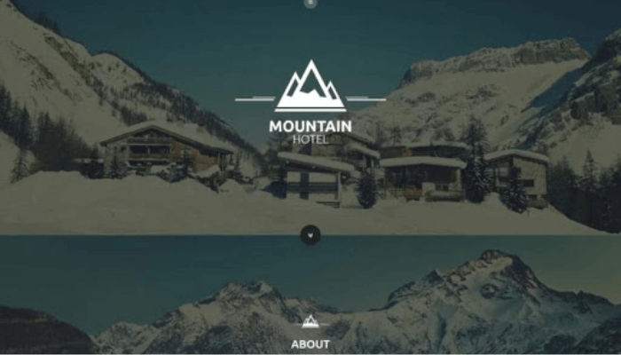 mẫu website khách sạn mountain